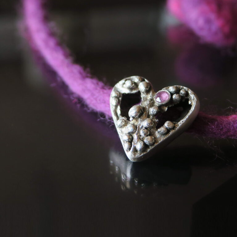 Ruby Heart Necklace 4