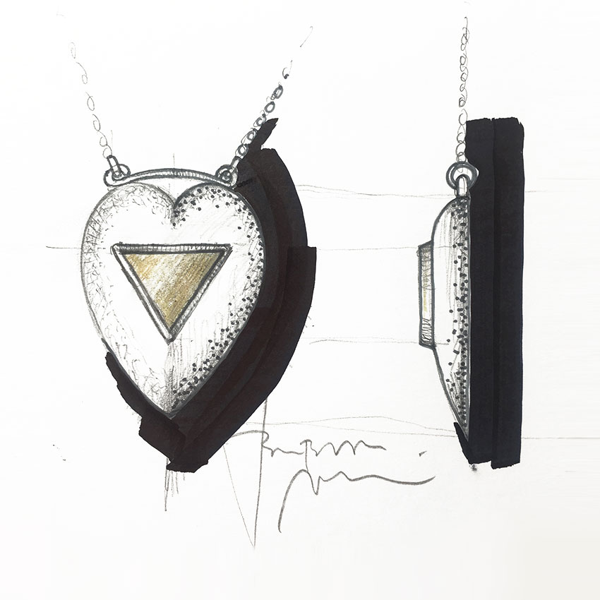 Ogrlica-skica-srce-pirit