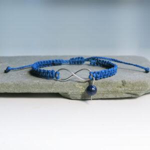 Pletena-zapestnica-neskoncnost-lapis lazuli