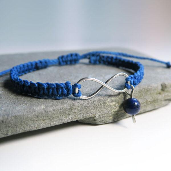 Pletena-zapestnica-infinity-lapis lazuli