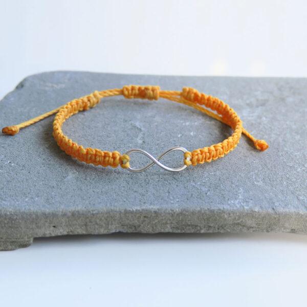 Zapestnica-pletena-neskoncnost-oranzna